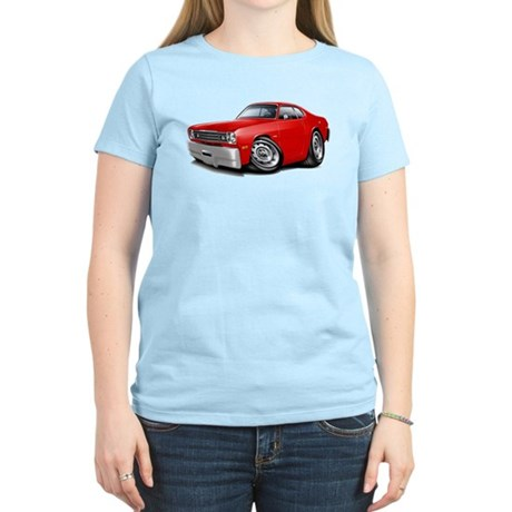 1970-74 Duster Red Car Women's Light T-Shirt