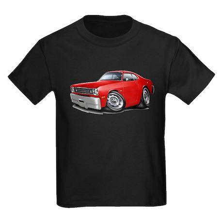 1970-74 Duster Red Car Kids Dark T-Shirt