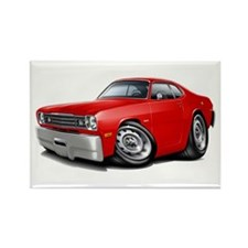 1970-74 Duster Red Car Rectangle Magnet
