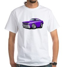 Duster Purple-White Car Shirt