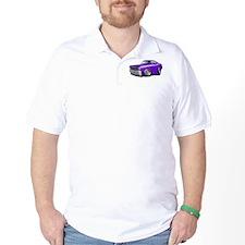 Duster Purple-White Car T-Shirt