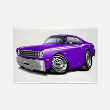 Duster Purple-White Car Rectangle Magnet