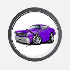 Duster Purple Car Wall Clock