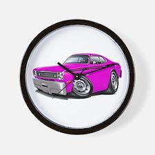 Duster Pink-Black Car Wall Clock