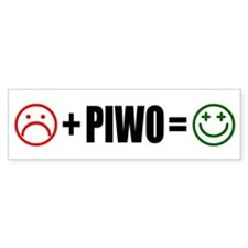 Plus Piwo Bumper Sticker