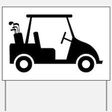 Golf Cart Yard Sign