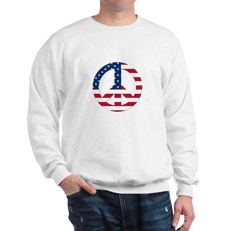 USA Flag Peace Sign Sweatshirt