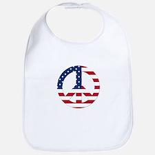 USA Flag Peace Sign Bib