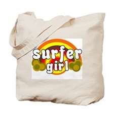SURFER GIRL RETRO TEE Tote Bag