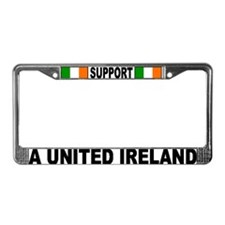 SUPPORT A UNITED IRE License Plate Frame