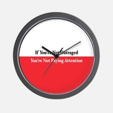 Outraged Wall Clock