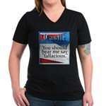 Quotes from Castle Women's V-Neck Dark T-Shirt