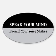 Speak Your Mind Oval Decal