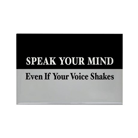 Speak Your Mind Rectangle Magnet (100 pack)