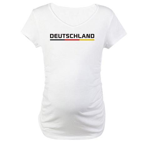 Soccer DEUTSCHLAND Stripe Maternity T-Shirt