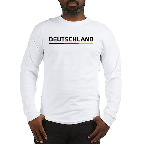 Soccer DEUTSCHLAND Stripe Long Sleeve T-Shirt