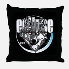 Eclipse Wolf 6/30/10 by twibaby Throw Pillow