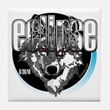 Eclipse Wolf 6/30/10 by twibaby Tile Coaster