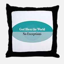 Bless the World Throw Pillow