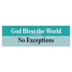 Bless the World Bumper Sticker