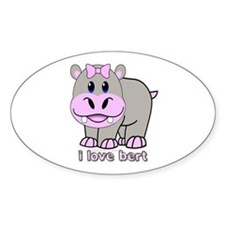 Bert the Hippo Oval Decal