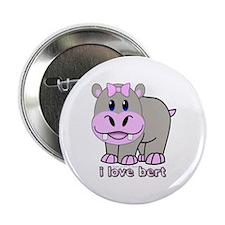 """Bert the Hippo 2.25"""" Button"""