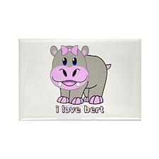Bert the Hippo Rectangle Magnet