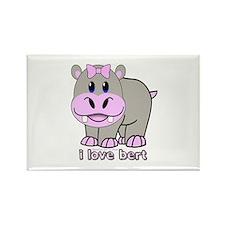 Bert the Hippo Rectangle Magnet (10 pack)