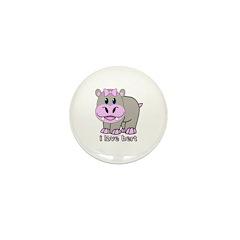 Bert the Hippo Mini Button (100 pack)