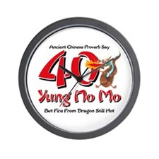 Yung No Mo 40th Birthday Wall Clock