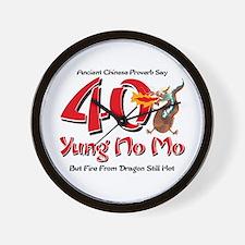Yung No Mo 40th Birthday Wall Clock