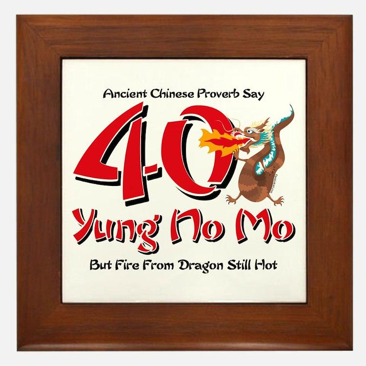 Yung No Mo 40th Birthday Framed Tile