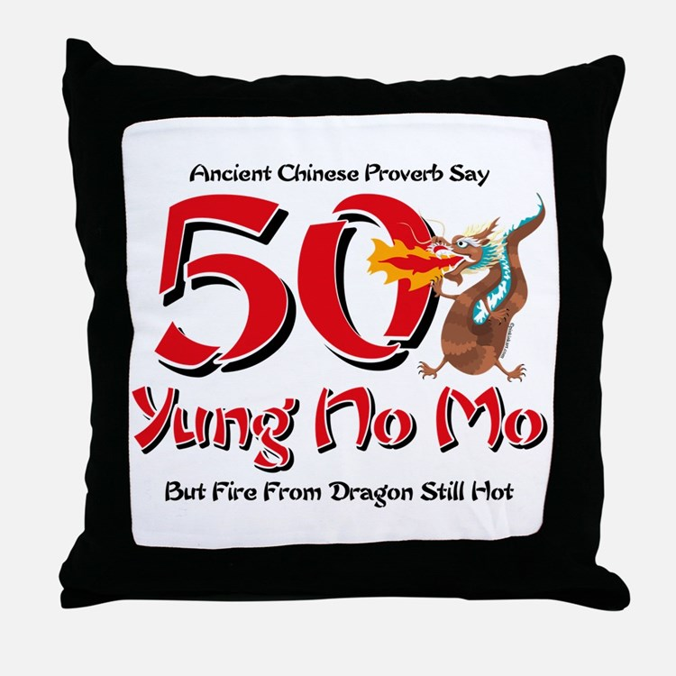 Yung No Mo 50th Birthday Throw Pillow