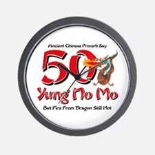 Yung No Mo 50th Birthday Wall Clock