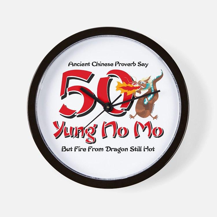 Yung No Mo 50th Birthday Wall Clock