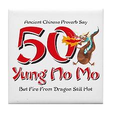 Yung No Mo 50th Birthday Tile Coaster