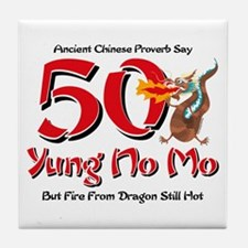 Yung No Mo 50th Birthday Tile Coaster