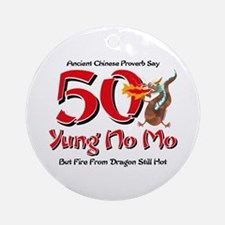 Yung No Mo 50th Birthday Ornament (Round)