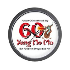 Yung No Mo 60th Birthday Wall Clock