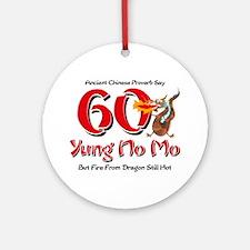 Yung No Mo 60th Birthday Ornament (Round)