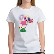 Funny 4th of July Flamingo Tee