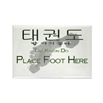 Rectangle Magnet (100 pk) Tae Kwon Do Place Foot H