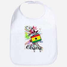 Flower Ghana Bib