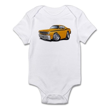 Duster Orange-Black Car Infant Bodysuit
