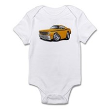 Duster Orange-Black Car Infant Bodysuit