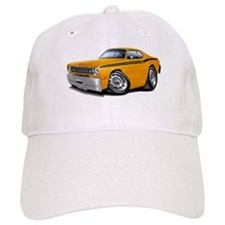 Duster Orange-Black Car Baseball Cap