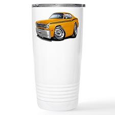 Duster Orange-Black Car Travel Mug