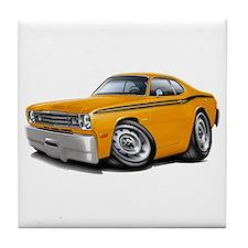 Duster Orange-Black Car Tile Coaster