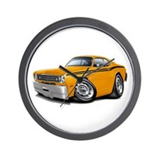 Duster Orange-Black Car Wall Clock