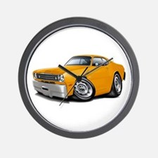 Duster Orange Car Wall Clock